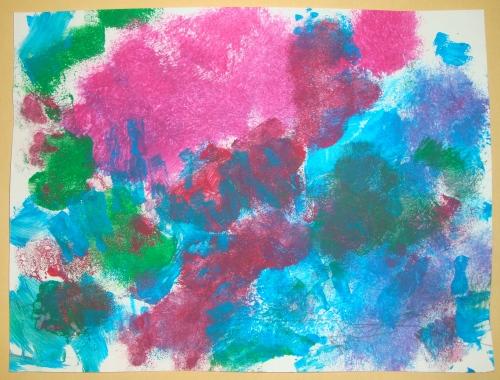 Coral Reef Sponge Painting