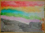 Sunset Beach - Watercolors